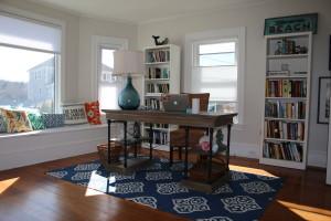 Writer's desk in living room